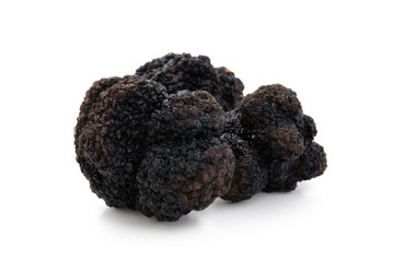 Black truffles on white.