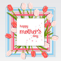 Happy mother's day images vector. Mothers Day greeting card. Happy Mothers Day design in trendy style. Mothers Day typography with frame.