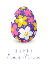 Easter card with color floral egg