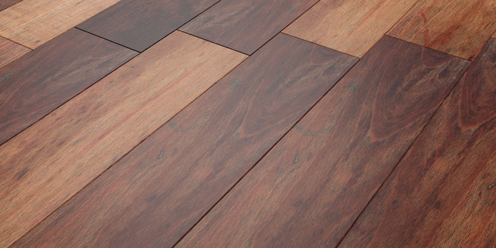 Wooden floor background, perspective view from above. 3d illustration