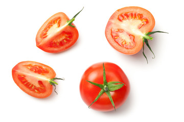 Fresh Tomatoes Isolated on White Background