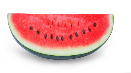 Sliced ripe watermelon isolated on white background