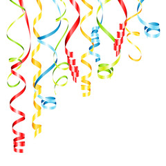 Streamers Red/Green/Yellow/Blue