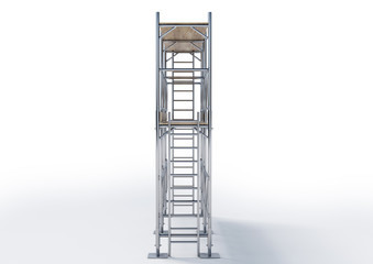 A scaffold illustration made in 3D software.
