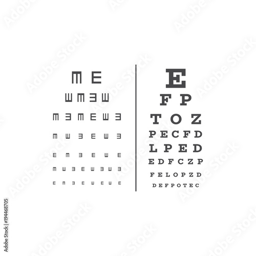 Eyes Test Chart With Latin Letters Stock Image And Royalty Free