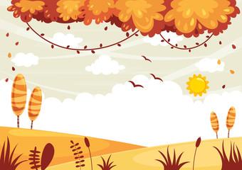 Vector Illustration Of Colorful Landscape