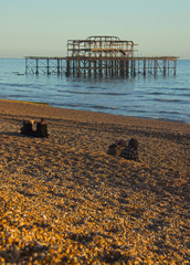 Abandoned pier at Brighton