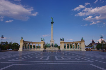 Heroes Square in Budapest city, Hungary