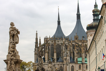 Cathedral of Saint Barbara in Kutna Hora, Bohemia