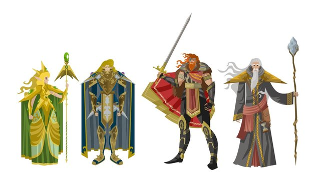 rpg videogame fantasy party warriors