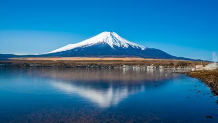 Fuji Mountain And Lake Reflection