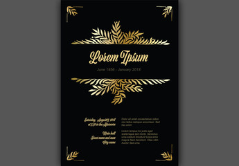 Digital Funeral Announcement Card Layout