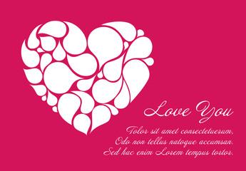 Digital Valentine's Day Card Layout