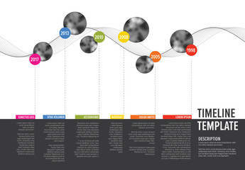 Wavy Lines Horizontal Timeline Layout