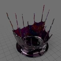 Dense splash of liquid