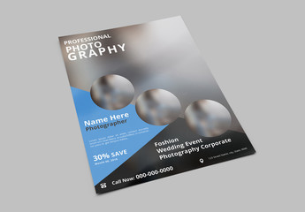 Business Flyer Layout with Blue and Gray Accents 3