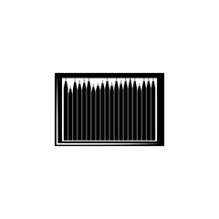 pencil box woodcut icon