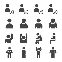 person,personal icon set