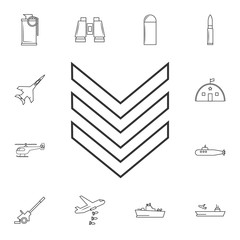 Military emblem rank line icon .Element of popular army  icon. Premium quality graphic design. Signs, symbols collection icon for websites, web design,
