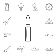 automat bullet line icons.Element of popular army  icon. Premium quality graphic design. Signs, symbols collection icon for websites, web design,