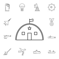 Barracks, military tent line icon.Element of popular army  icon. Premium quality graphic design. Signs, symbols collection icon for websites, web design,