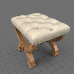 Decorative stool with cushion