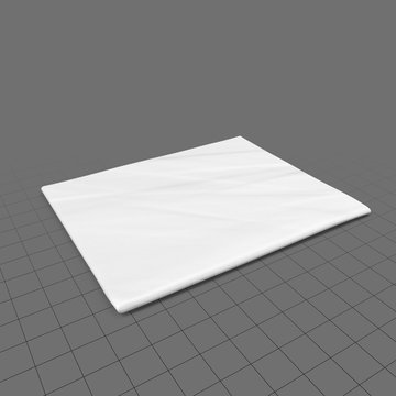 Single, folded newspaper for mockup