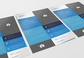 Business Flyer Layout with Blue Accents 1