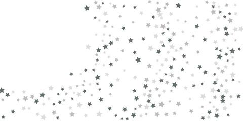Silver star of confetti.