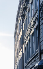 Facade of a apartment building in Ukraine