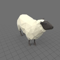 Stylized sheep standing