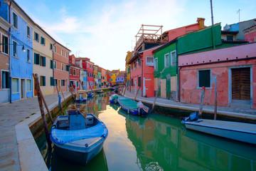 Colorful house in Burano island, Venice,