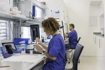 IVF Lab - Profile of Male and Female Lab Technicians Working