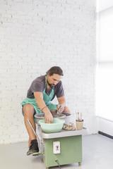 Man In Pottery Studio