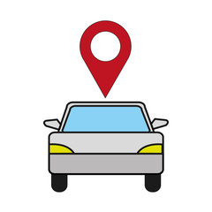 vehicle transport with location map symbol