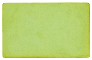 Green paper texture background isolated - (clipping path included)