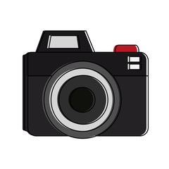 Photographic camera symbol vector illustration graphic design