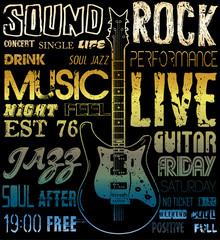 Music poster graphic design