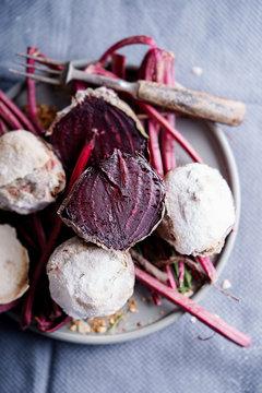Salt baked beets.