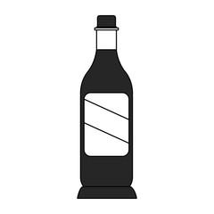 Wine bottle symbol vector illustration graphic design vector illustration graphic design