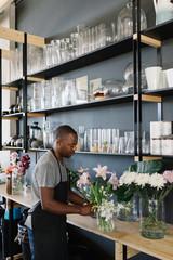Florist in his Studio