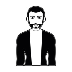 Young fashion man cartoon vector illustration graphic design