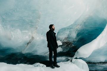 Man in Glacier