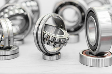 High precision machine parts bearing isolate on white background