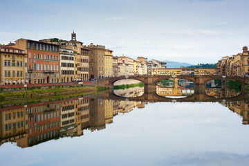 Arno Reflection, Florence, Italy