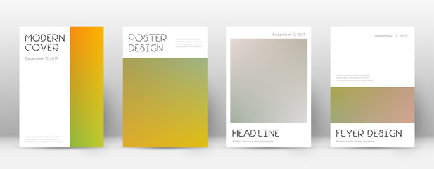 Flyer layout. Minimal dazzling template for Brochure, Annual Report, Magazine, Poster, Corporate Presentation, Portfolio, Flyer. Appealing color transition cover page. Wall mural