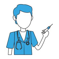 Doctor male cartoon vector illustration graphic design