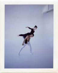 Performer balancing with ballet partner