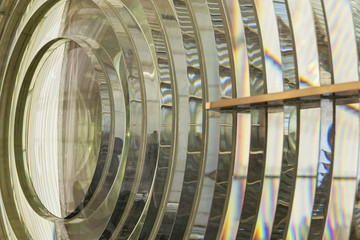 Fresnel lens of a lighthouse