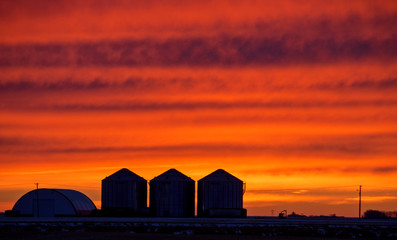 Canvas Prints Cuban Red Saskatchewan Prairie Sunset